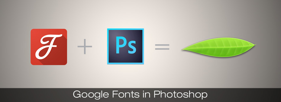 how to use google fonts in photoshop